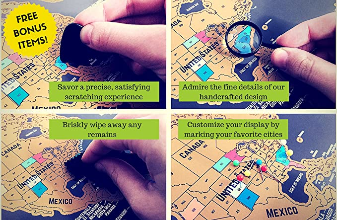 Scratch off Mapa del mundo por grynn: Amazon.es: Oficina y papelería