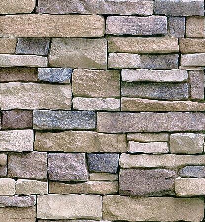Haokhome 61007m 3d Efecto Papel Pintado Ladrillo De Piedra 3d
