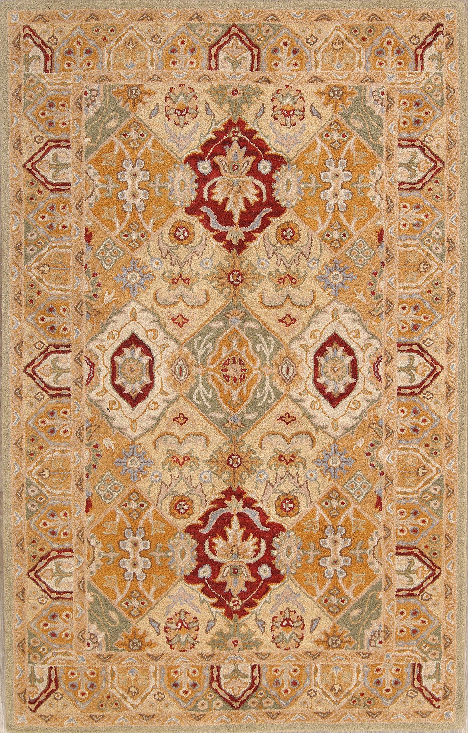 5x8 Tabriz Agra Persian Style Oriental Area Rug