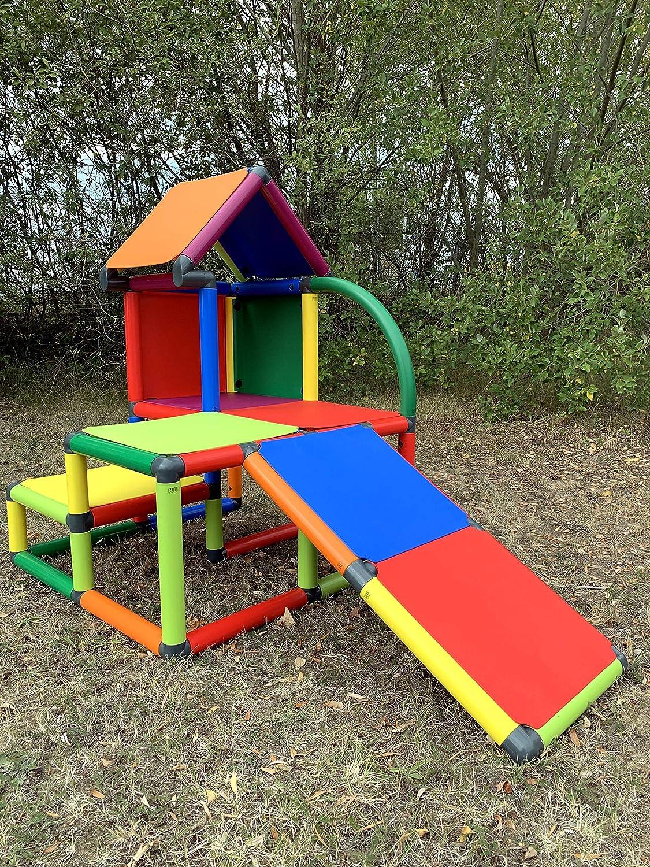 move and stic Mila Maison de Jeu avec Toboggan pour Chambre denfant ou Salle de Jeux Tout Aussi adapt/ée Que dans Le Jardin Multicolore