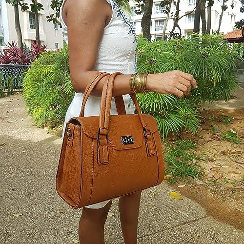 Purple Relic cartera Hermes estilo birkin Para mujer, Marrón (2 Vintage Brown), Medium: Amazon.es: Zapatos y complementos