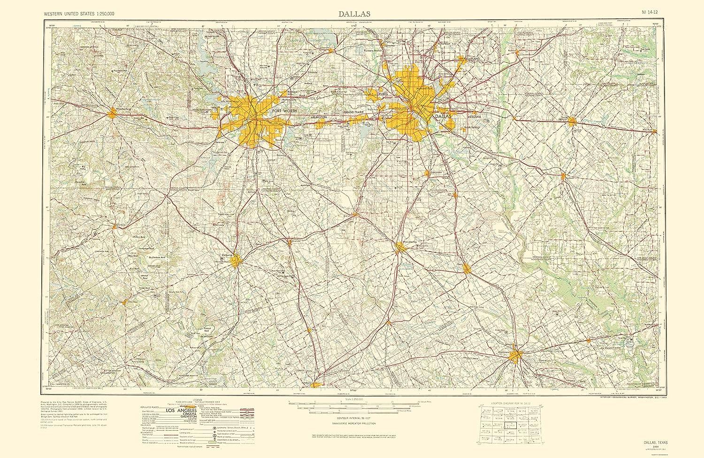 Amazon Com Maps Of The Past Dallas Texas Quad Usgs 1963 23 X
