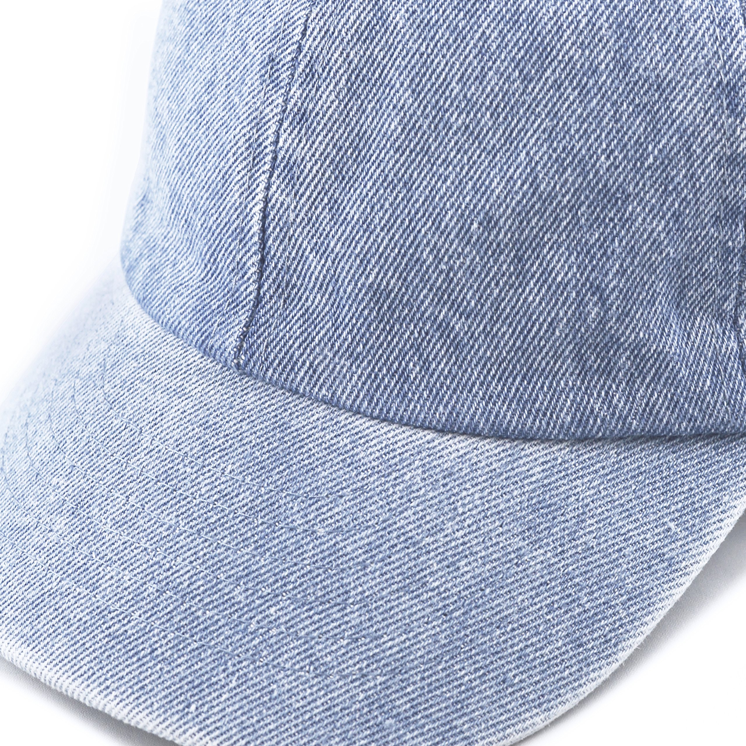 THE HAT DEPOT Kids Washed Low Profile Cotton and Denim Baseball Cap (Light Denim) by THE HAT DEPOT (Image #3)