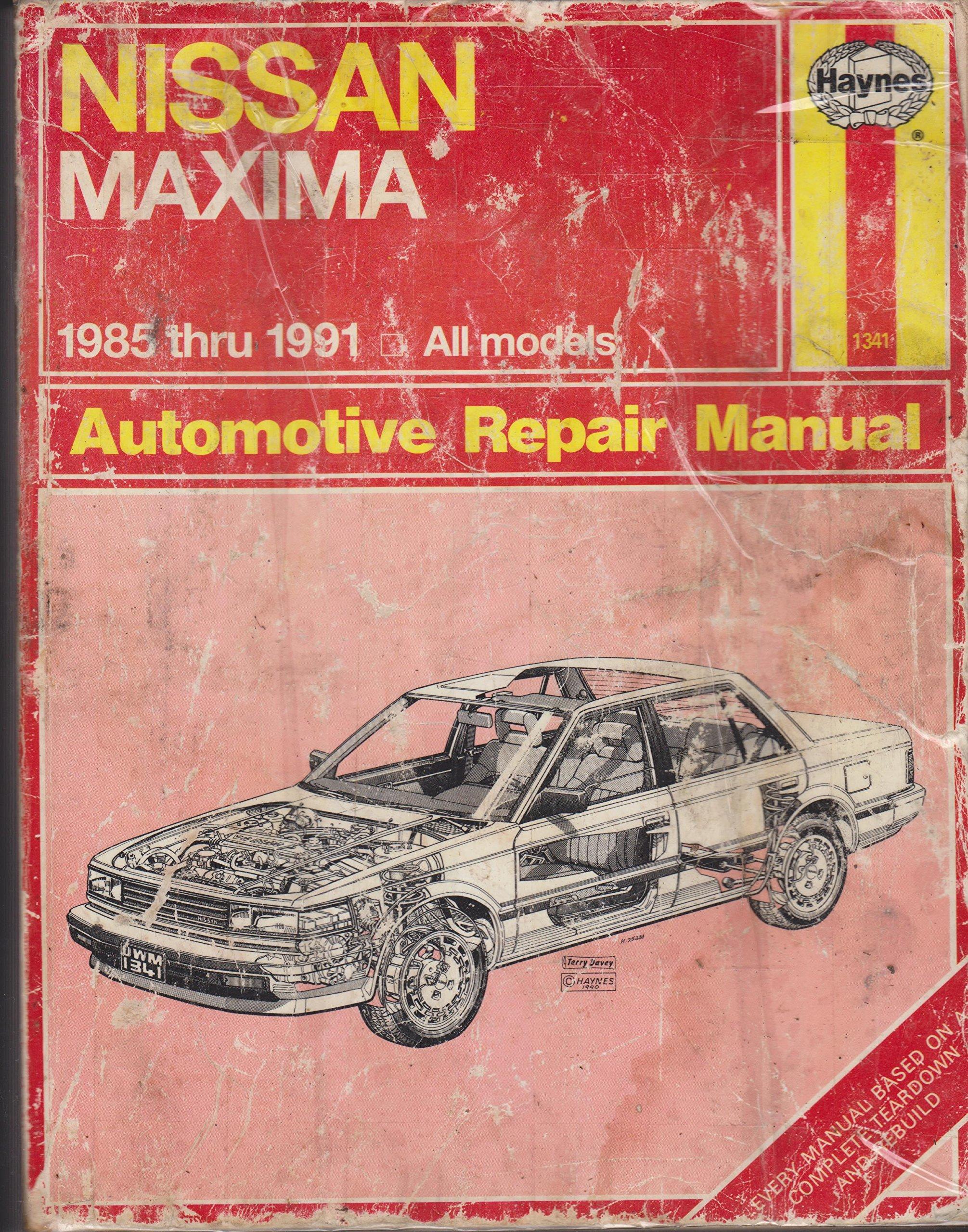 nissan maxima automotive repair manual haynes automotive repair rh amazon com 1992 nissan maxima owner's manual 1991 Nissan Maxima