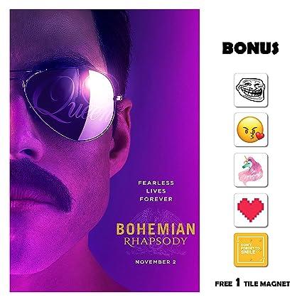 Amazoncom Bohemian Rhapsody Movie Poster 13 In X 19 In Poster