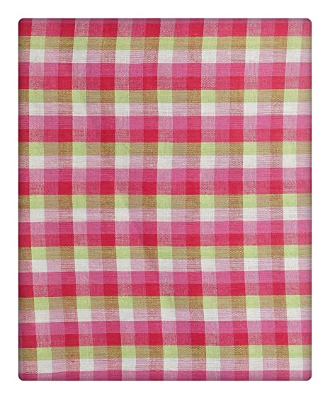 BHAWANA KHADI ASHRAM MAUZAMPUR JAITRA Handwoven Men's Cotton Ethnic Fabric (Multi-Coloured)