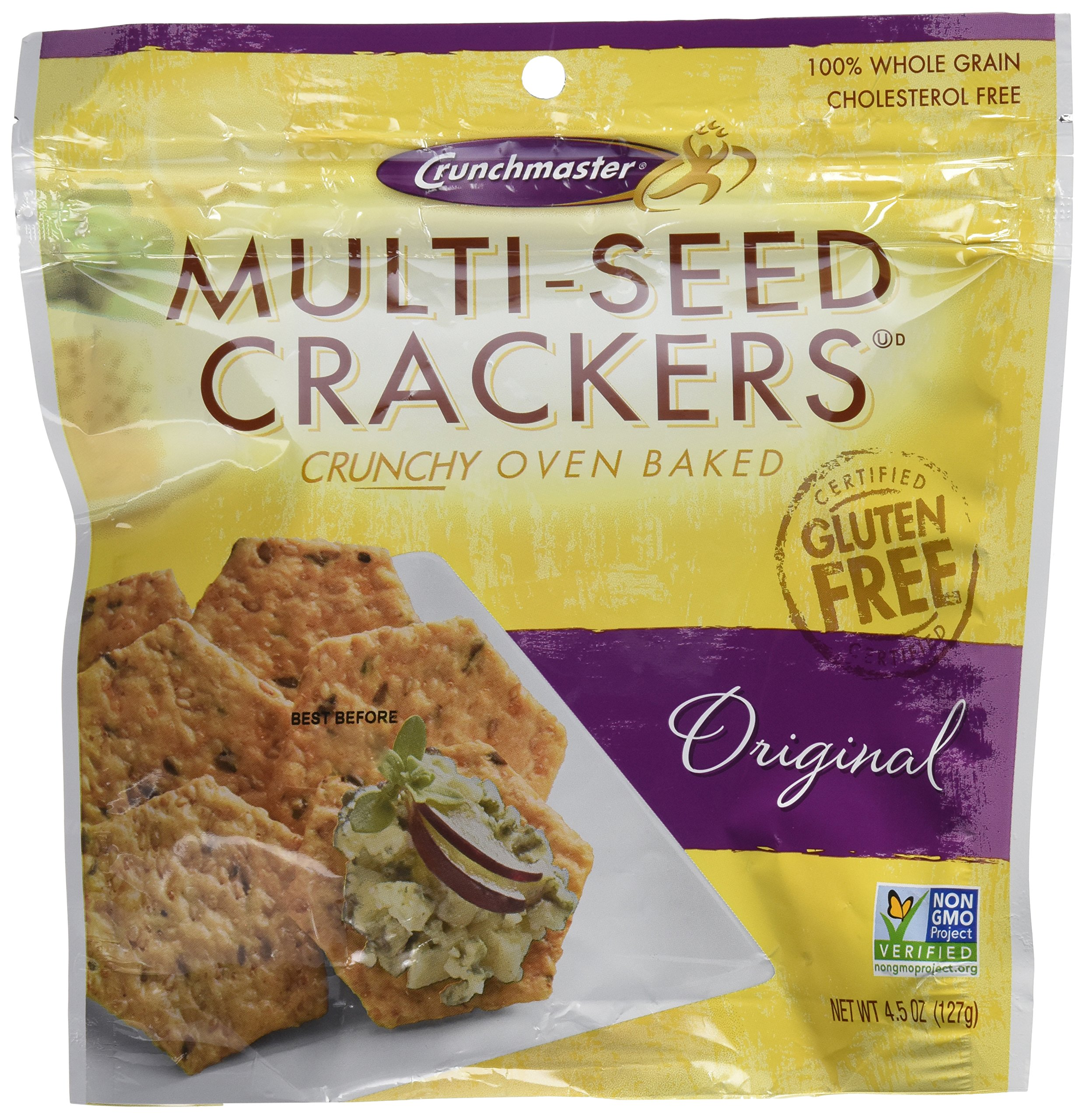 Crunchmaster Crackers Multi-Seed Orginal  - 2 / 4.5 Oz Bags Gluten Free by Crunchmaster