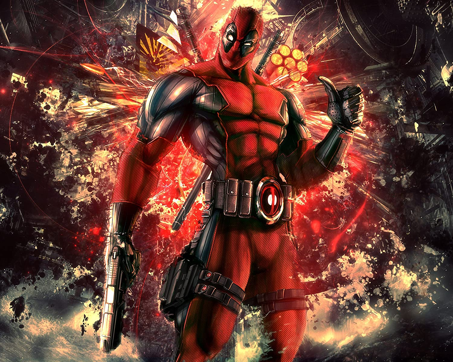 CHOOSE YOUR SIZE Large Quality FREE P+P Deadpool Poster Movie Marvel Superhero