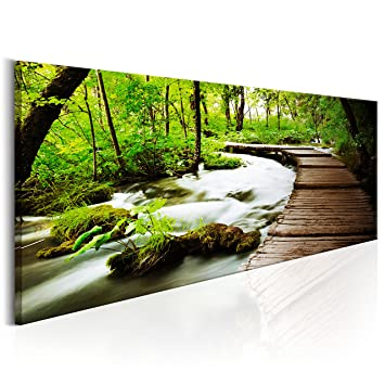 Bilder 100x40 Cm ? Xl Format - Leinwand - Fertig Aufgespannt - Top ... Wandbilder Wohnzimmer Grun