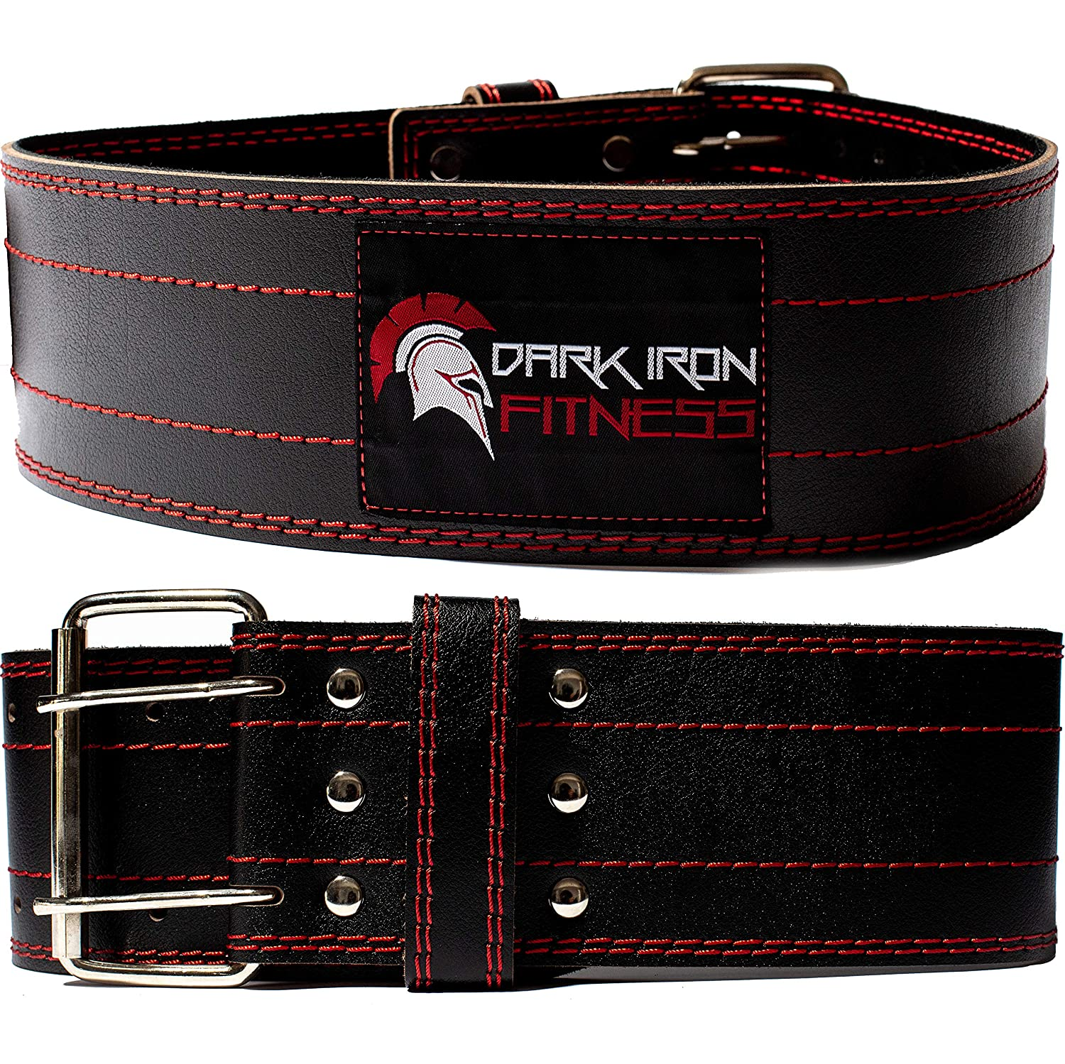 Dark Iron Fitness Genuine Leather Pro Weight Lifting Belt for Men and Women
