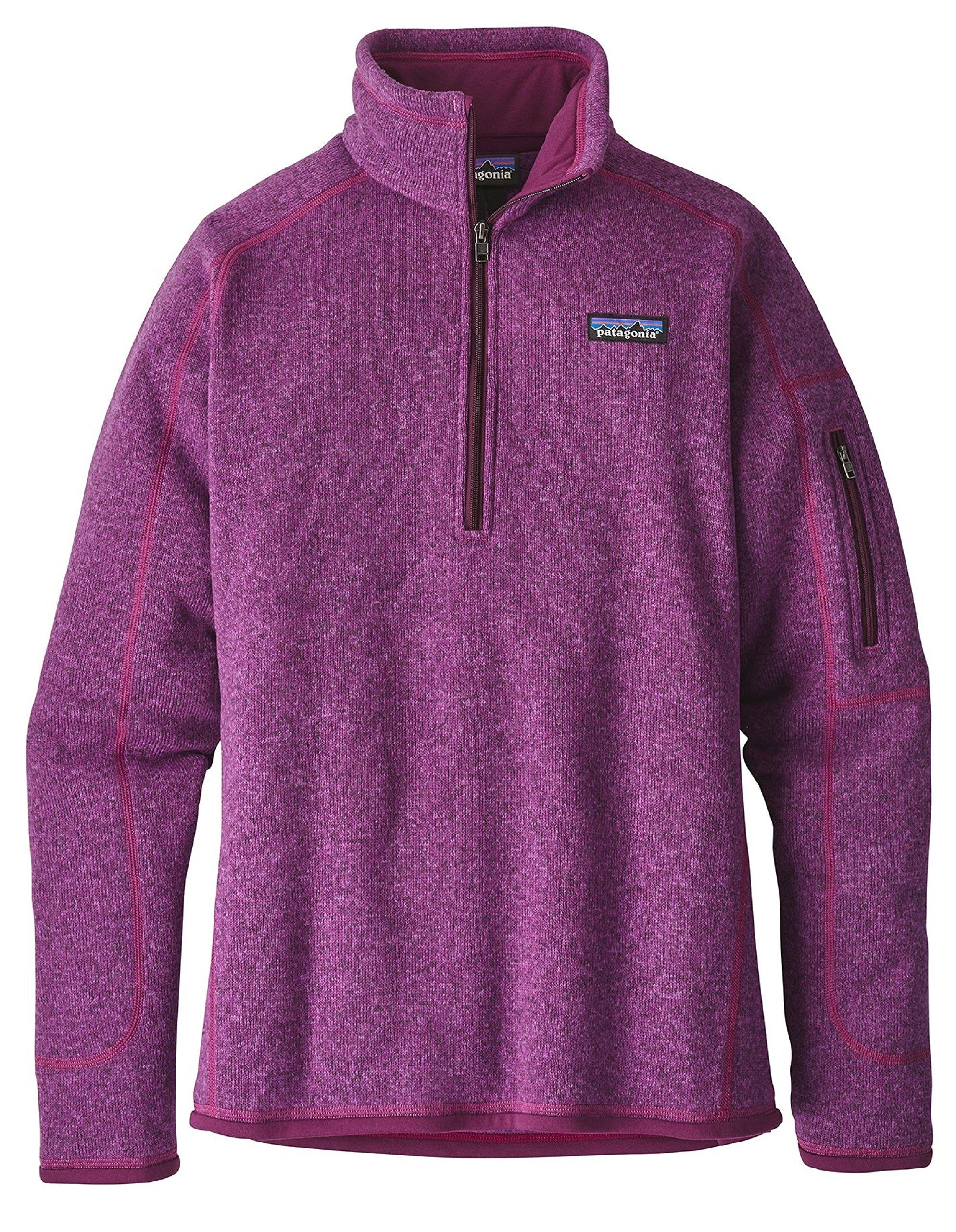 Patagonia Womens Better Sweater 1/4 Zip 25617 (Small, Ikat Purple)