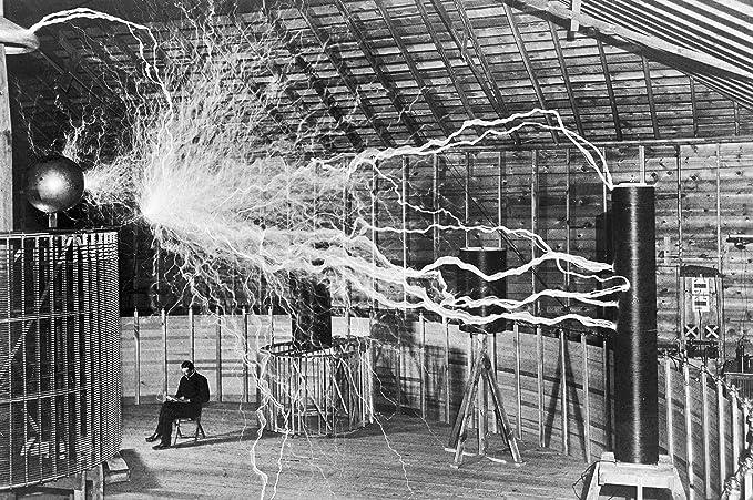 Nikola Tesla/'s Lightning Equipment 11x14 Unframed Print