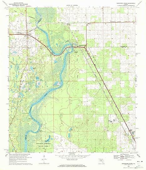Amazon Com Yellowmaps Suwannee River Fl Topo Map 1 24000 Scale
