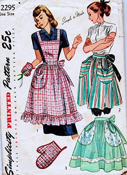 Amazon.com: Simplicity 2295 Vintage Sewing Pattern, Simple to Make ...