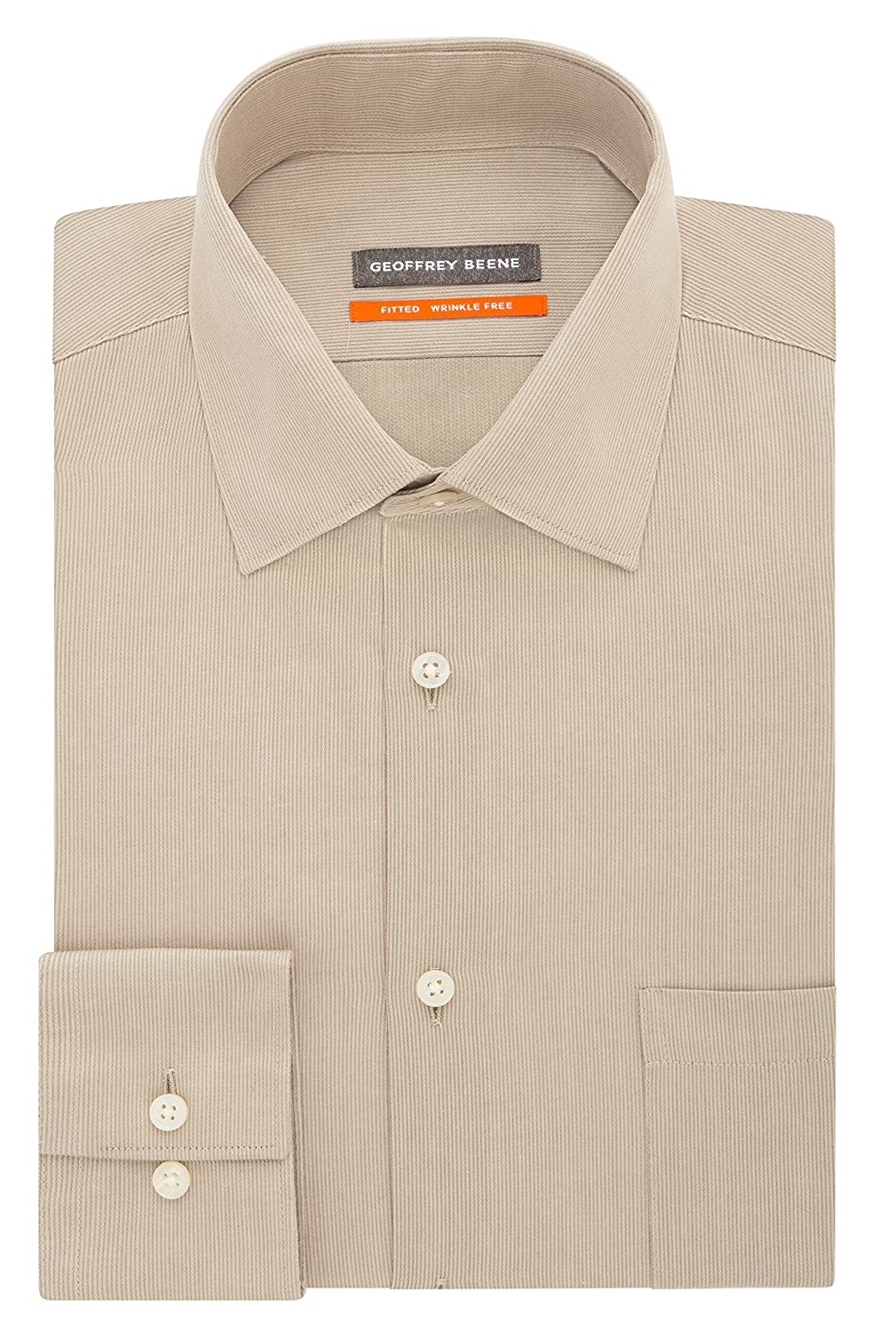 8402394c25 Geoffrey Beene Mens Textured Sateen Fitted Solid Spread Collar Dress Shirt   Amazon.ca  Clothing   Accessories