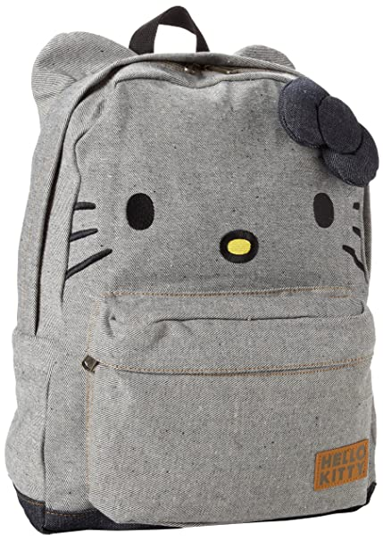 Loungefly Hello Kitty Denim Backpack  Amazon.co.uk  Shoes   Bags d4a22e8215
