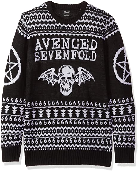 Fea Avenged Sevenfold Mens Ugly Christmas Sweater Pullover Black