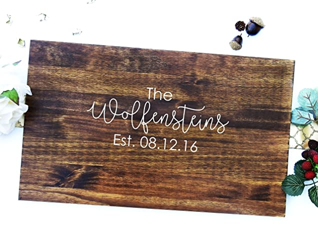 Wooded Guest Board Rustic Wedding Guest Book