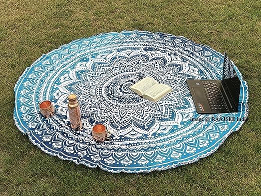Tela redonda de mandala estilo hippie diseño indio bohemio, ideal ...