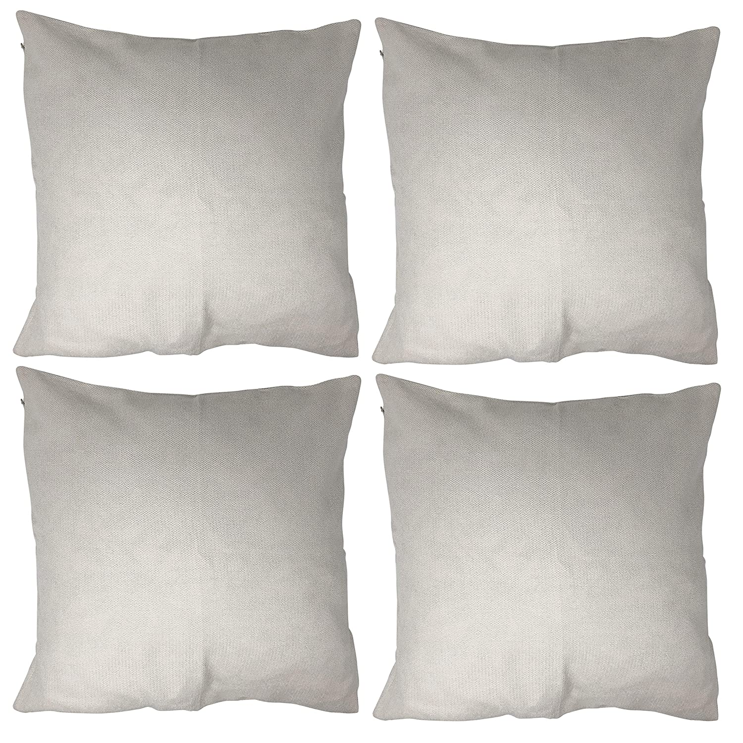 Allgala 4-Pack Decorative Throw Pillow Cover 18x18 Inch-White-PW82201