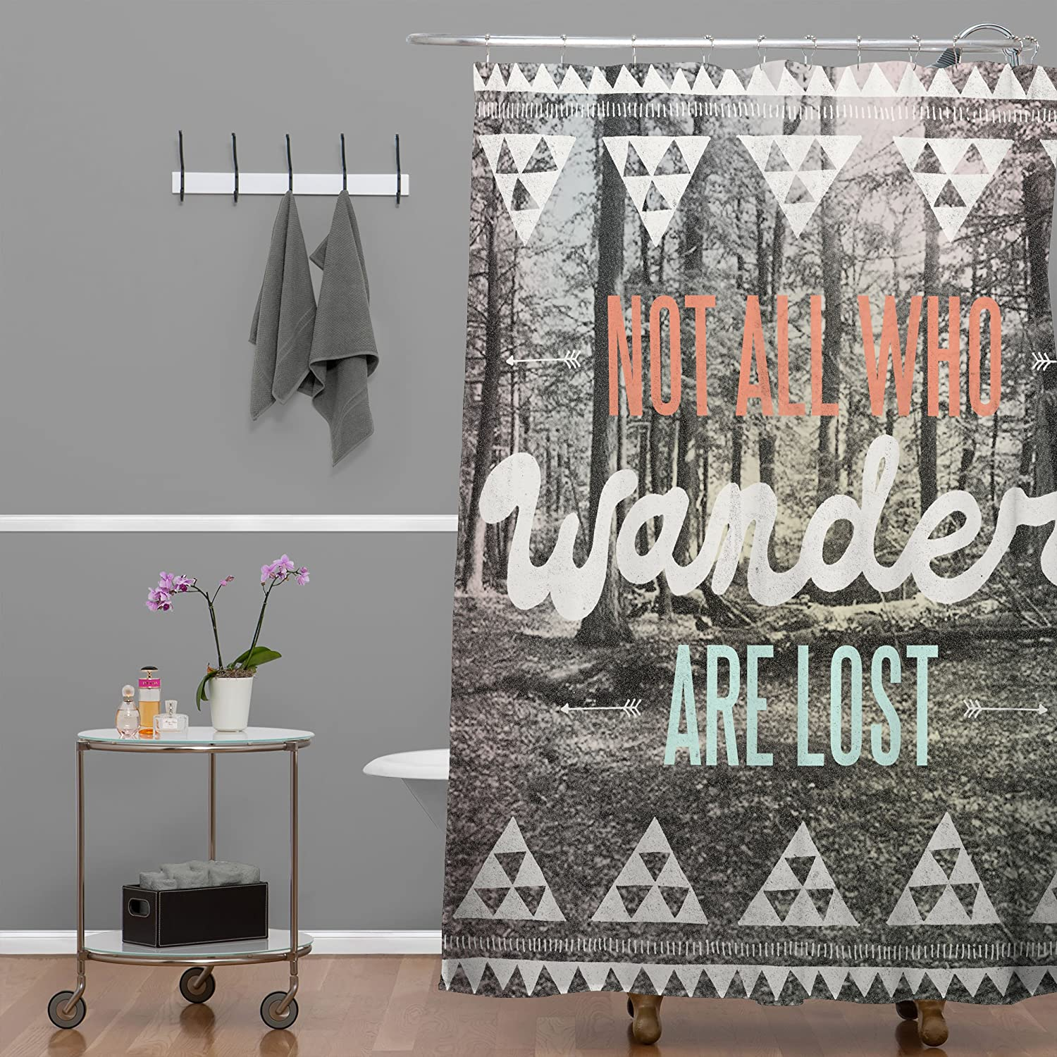 Amazon.com: Deny Designs Wesley Bird Wander Shower Curtain, 69 X 72: Home U0026  Kitchen