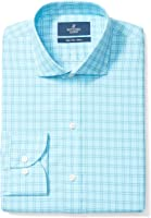 Buttoned Down Men's Slim Fit Cutaway-Collar Pattern Non-Iron Dress Shirt Without Pocket