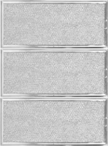 """W10208631A Microwave Grease Filter Compatible with Whirlpool and GE Microwaves 3 Pack Approx 13"""" x 6"""""""