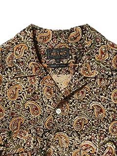 Short Sleeve Block Print Camp Shirt 11-01-0742-139: Black
