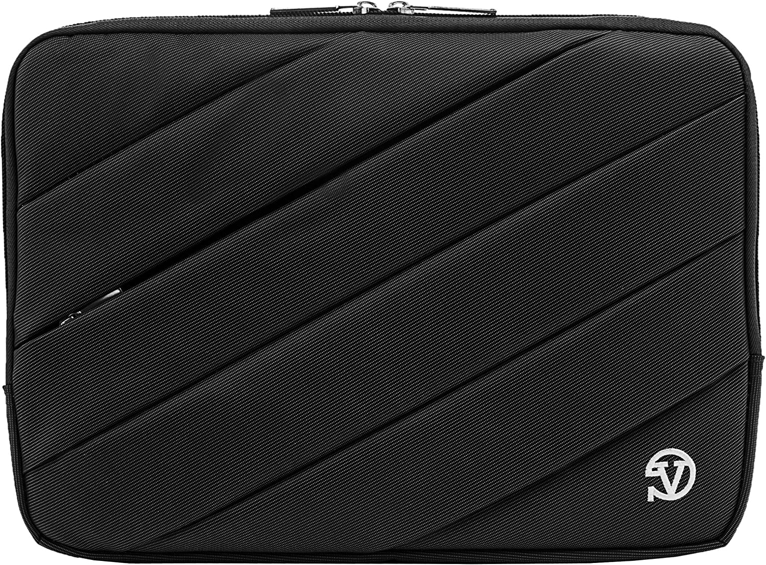 Protective Shock Absorbing Laptop Sleeve Case (Black, 11.6 to 12.5 inch) for Dell Inspiron 11, Latitude 11 12, ChromeBook, Education Series, XPS 12