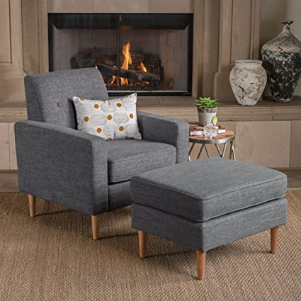Amazon Com Great Deal Furniture Samuel Mid Century Modern Grey