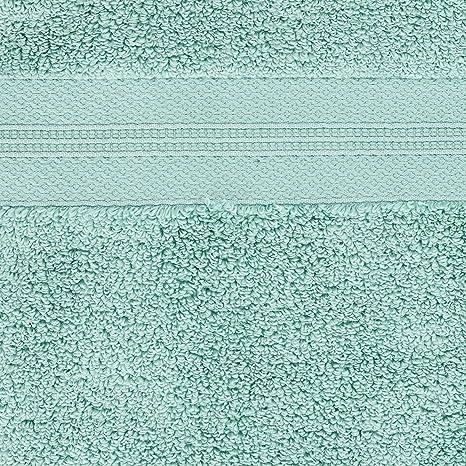 Pinzon - Juego de toallas de algodón Pima (2 toallas de mano), color verde mineral: Amazon.es: Hogar