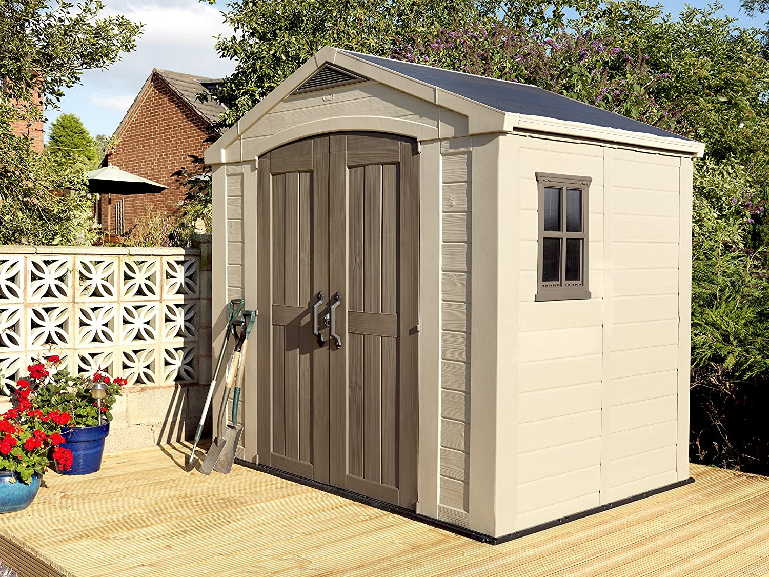 plastic outdoor ft fast assets sale x video with shed sheds shipping lifetime garden images today p storage shelves