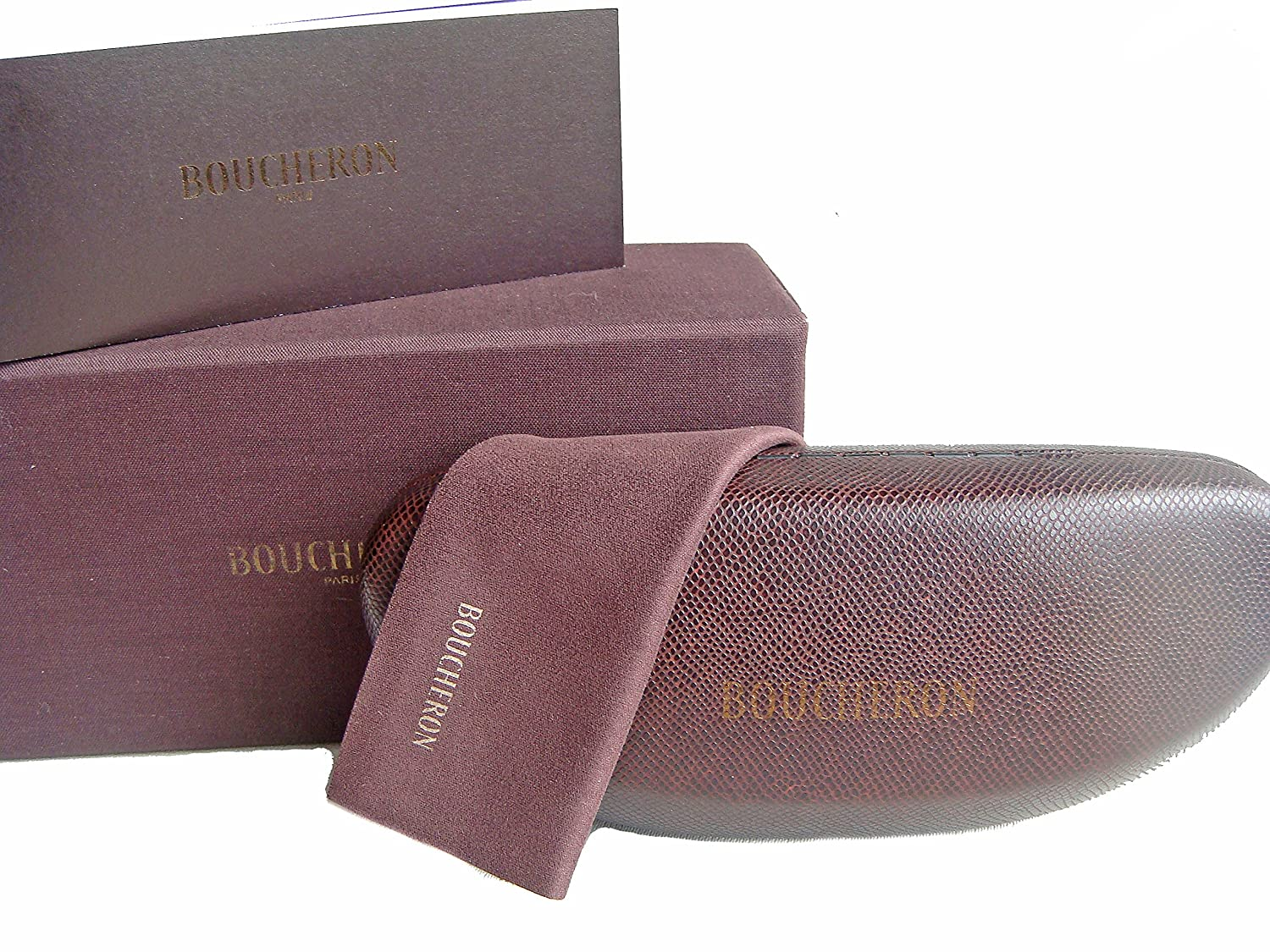 Boucheron Spectacles Glasses Eyeglasses Case + Lense Cloth + Authenticity Card Boxed