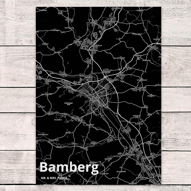 Karte Bamberg Landkarte.Mr Mrs Panda Postkarte Stadt Bamberg Stadt Black Stadt