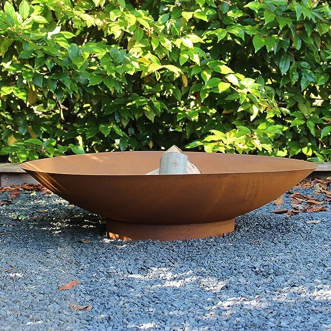 2 opinioni per Braciere da giardino Moderno 80 sguardo arrugginito- con una finitura marrone