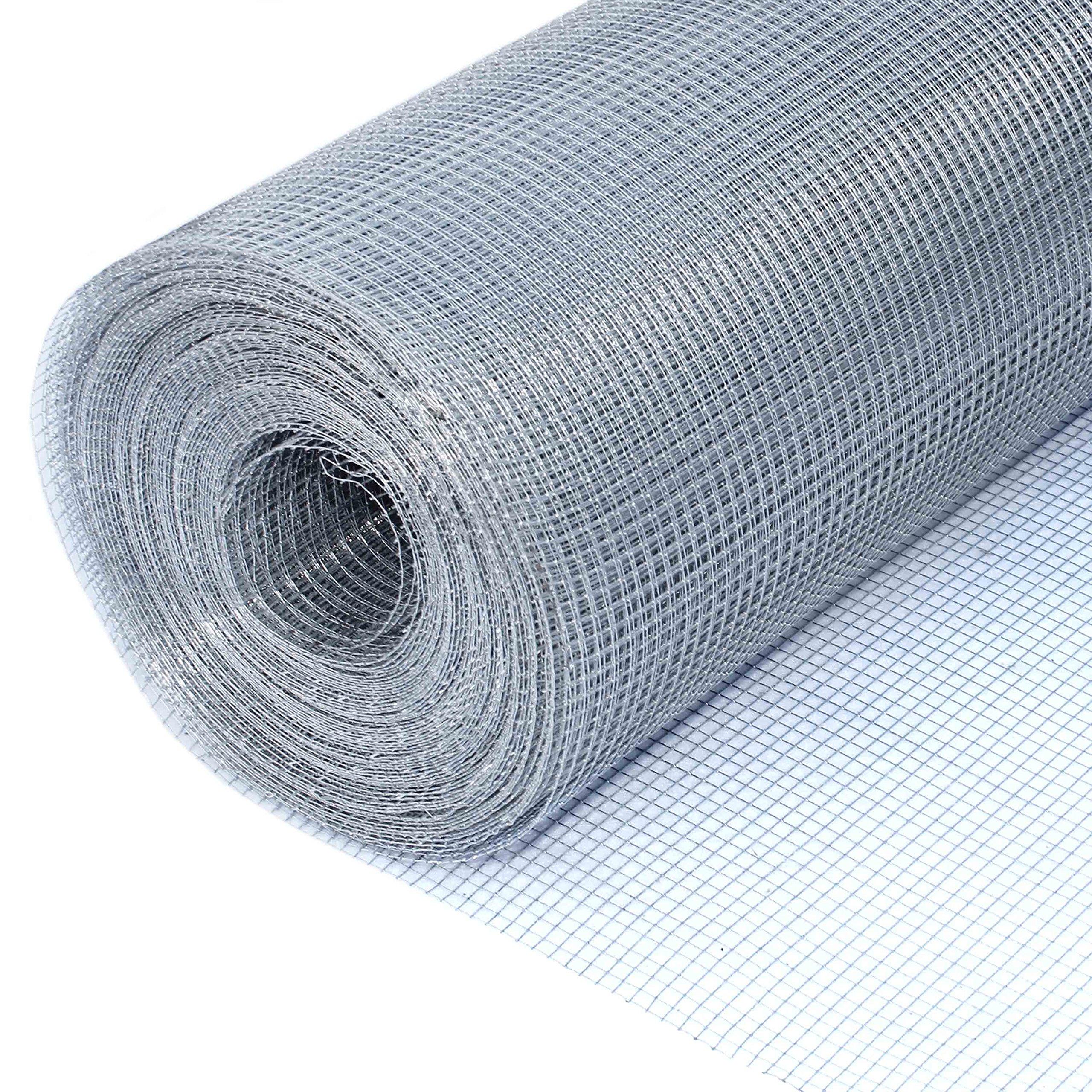 ALEKO Mesh Wire Roll Cloth 23 Gauge Steel 100 Feet Long 48 Inch Height 1/4 Inch Mesh