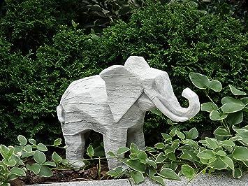 Beautiful Elephant In Frost Proof Cast Stone Garden Ornament