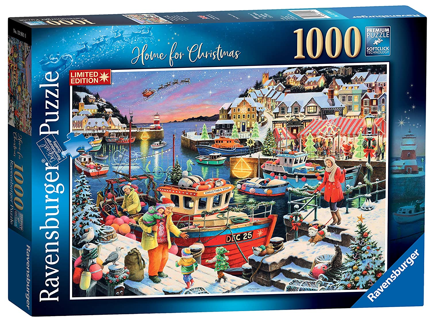 Coming Home For Christmas 2019.Ravensburger 13991 Home For Christmas Limited Edition 2019 1000pc Jigsaw Puzzle