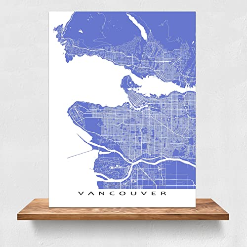 Vancouver map print british columbia canada city street art vancouver map print british columbia canada city street art amazon handmade gumiabroncs Gallery