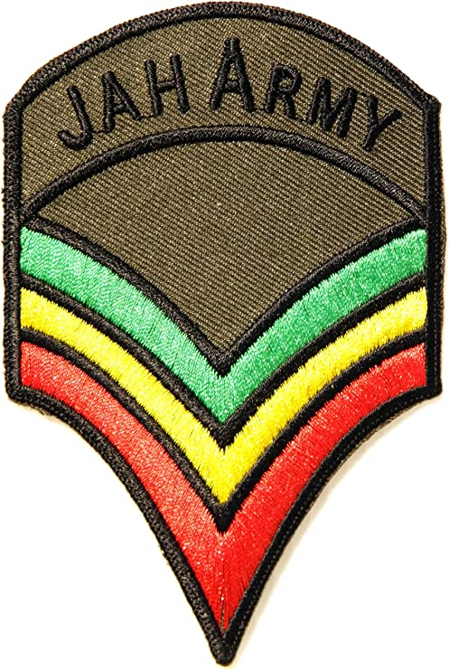 Jamaica Rasta Flag Embroidered Iron On Sew On Patch Badge For Clothes etc