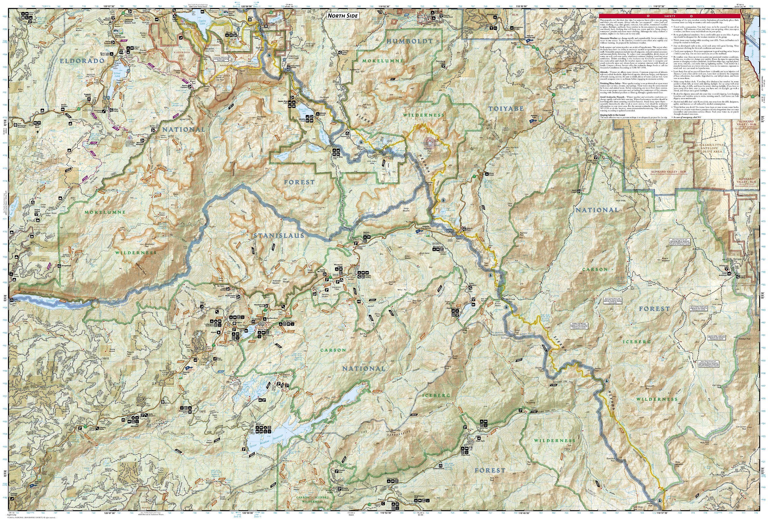 Carson-Iceberg, Emigrant, and Mokelumne Wilderness Areas [Eldorado ...