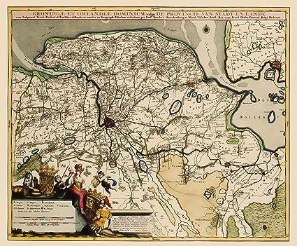 Amazon.com: Old Netherlands Map - Groningen Region ...