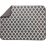"S&T Microfiber Dish Drying Mat - XL Taupe - 18""x24"""
