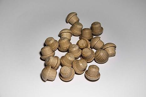 Pack de 20 tapones de madera Haya (Ø 15/20 mm con mecha)