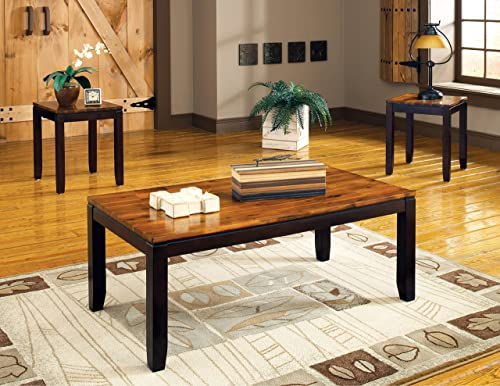 Steve Silver Abaco Occasional Table 3 Pc Set in Acacia Finish