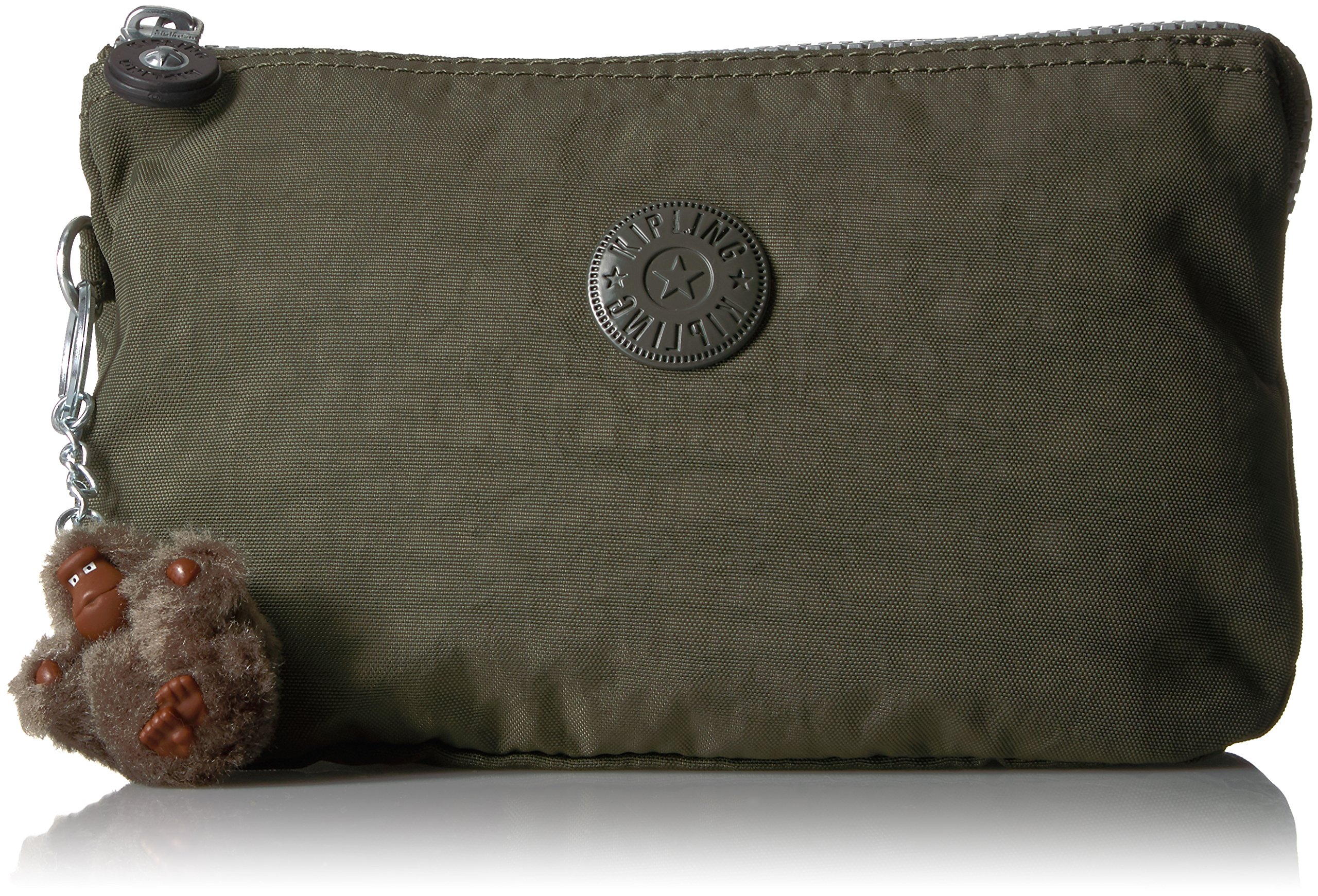 Kipling Creativity Xl Go Solid Pouch with Guitar Strap, Jaded Green