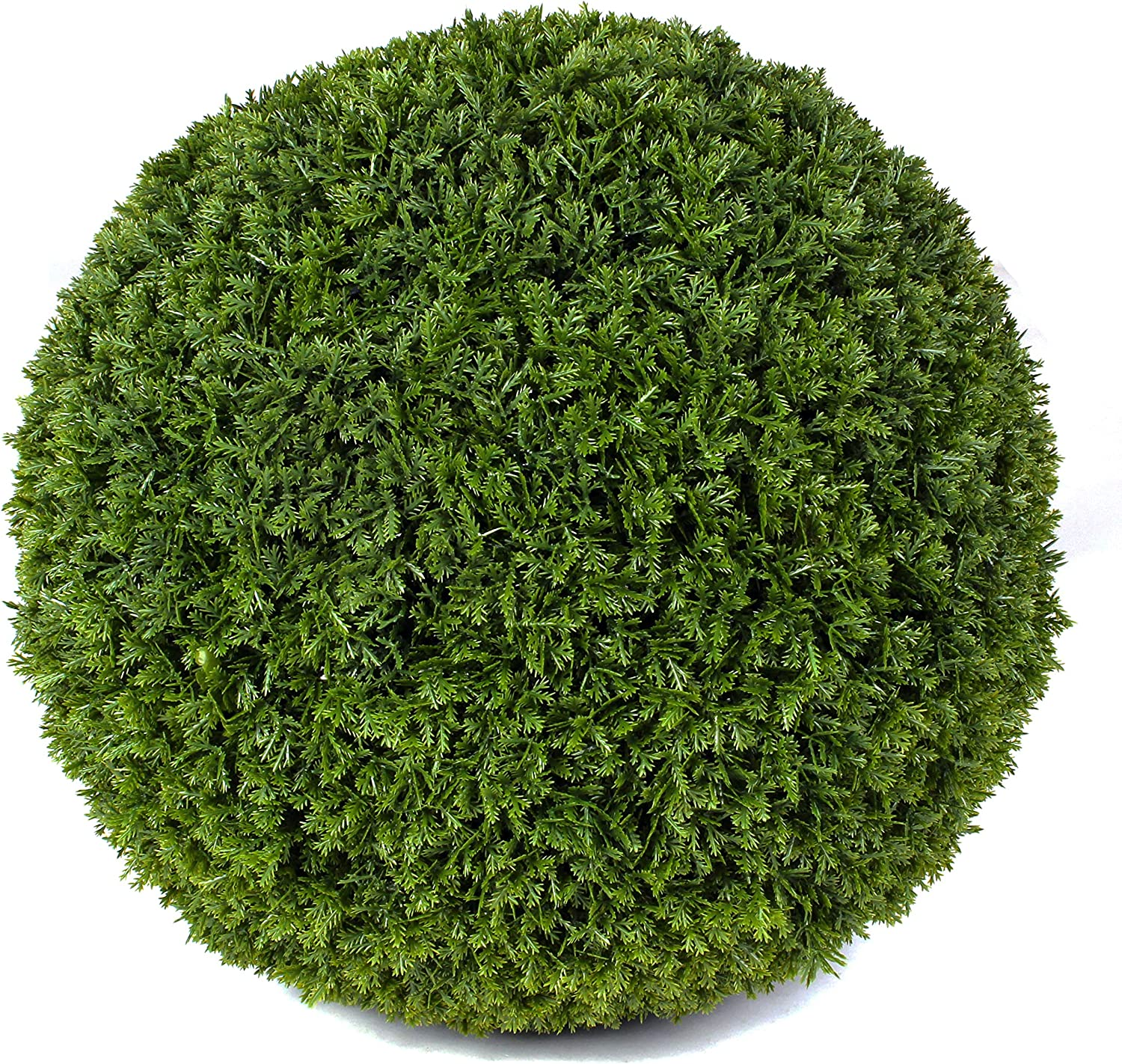 """3rd Street Inn Cypress Topiary Ball - 15"""" Artificial Topiary Plant - Wedding Decor - Indoor/Outdoor Artificial Plant Ball - Topiary Tree Substitute (2, Cypress)"""