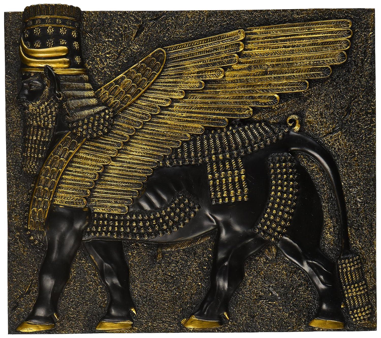 Design Toscano Assyrian Winged Bull Wall Sculpture QL13621