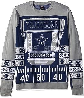444a166b8 Amazon.com   FOCO NFL Mens Stadium Light Up Crew Neck Sweater ...