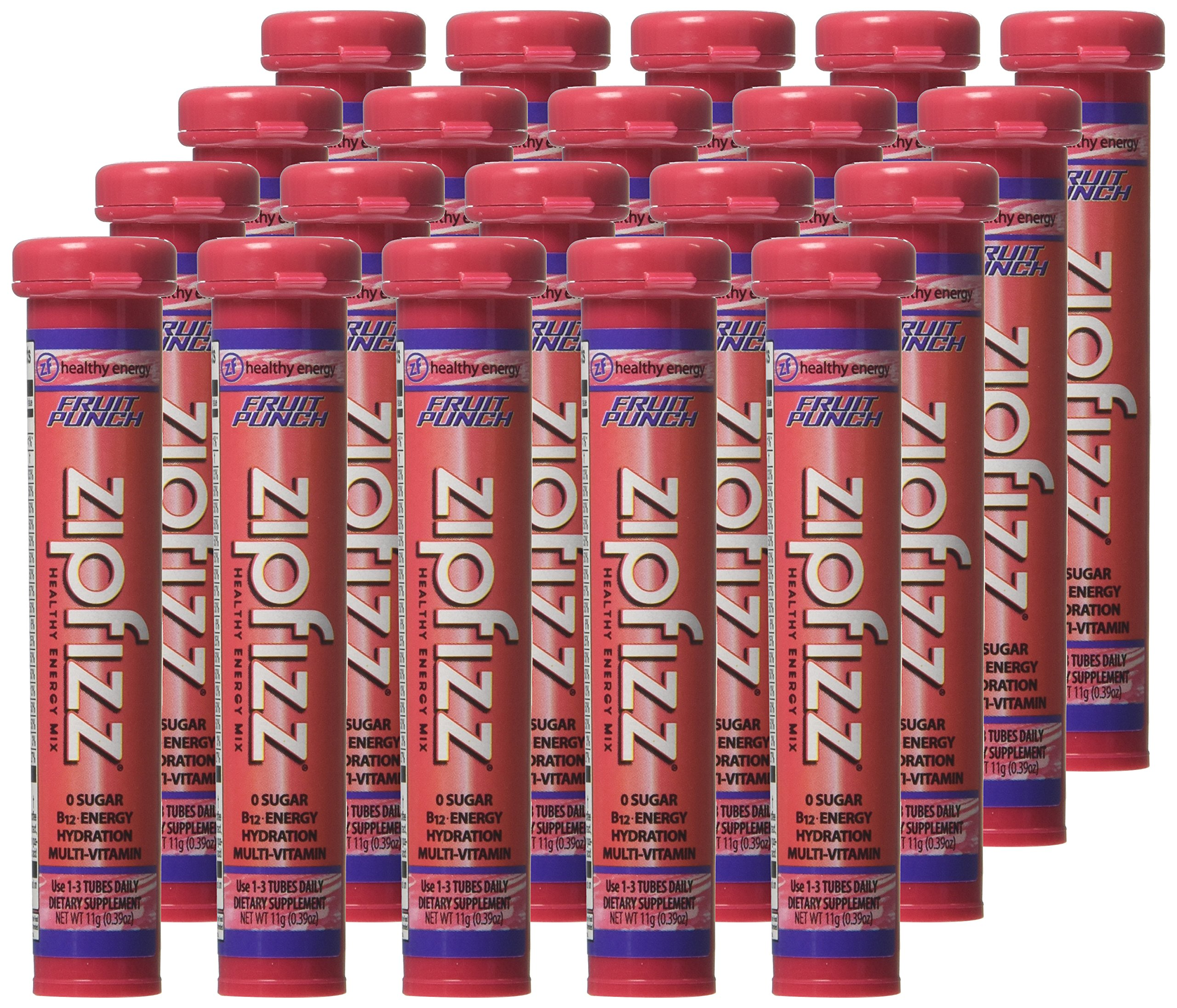 Zipfizz Fruit Punch Flavored Drink Packets, 20 Count by Zipfizz (Image #2)